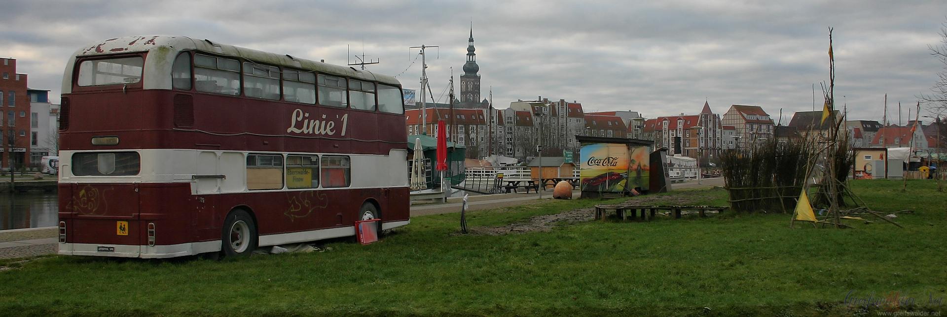 """""""Linie 1"""" am Museumshafen in Greifswald"""