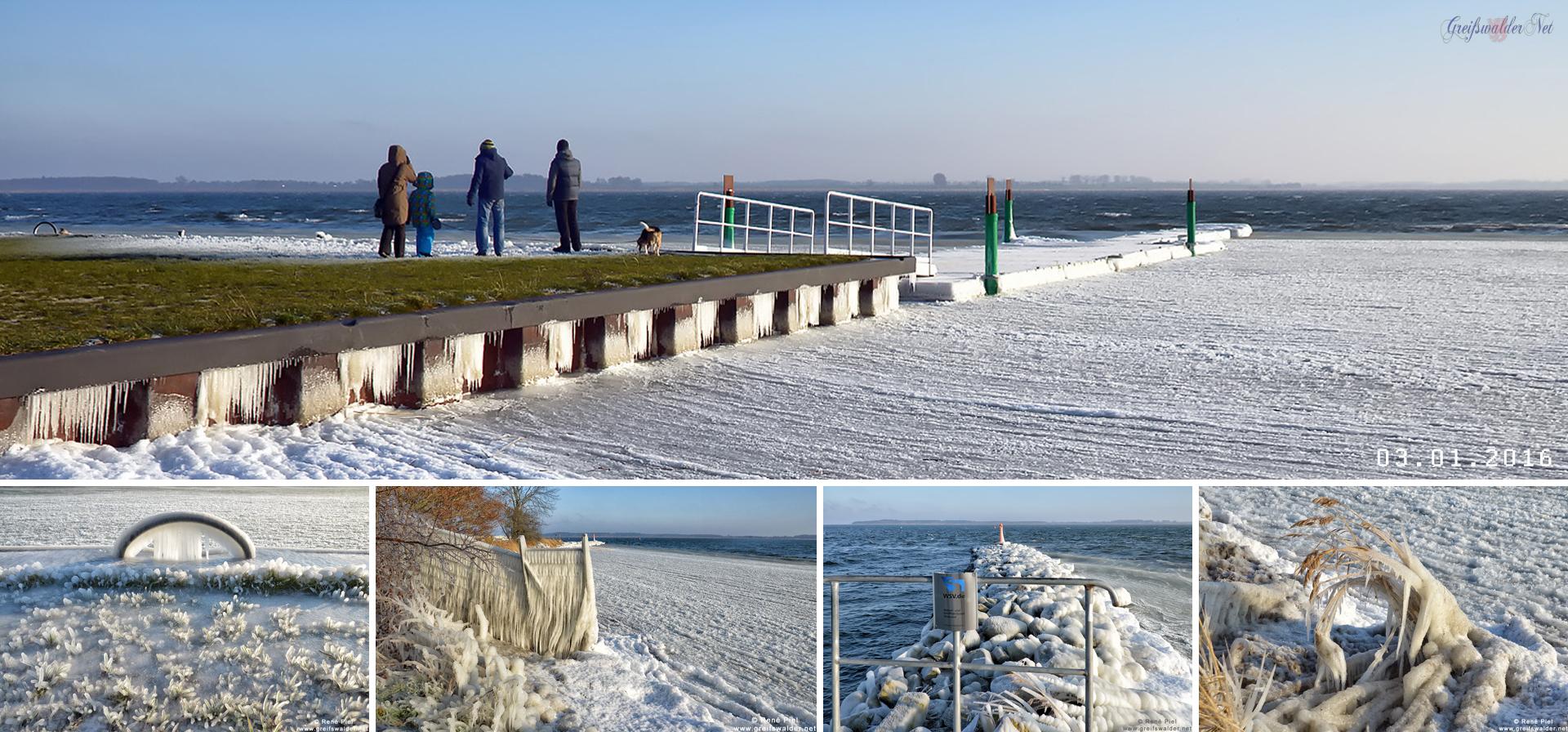 3. Januar 2016 an der Dänischen Wiek in Greifswald-Wieck