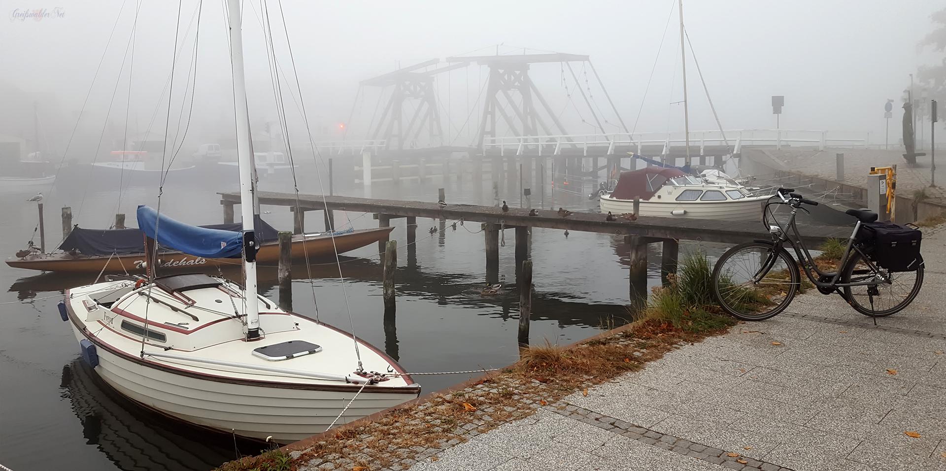 Greifswald-Wieck im Nebel