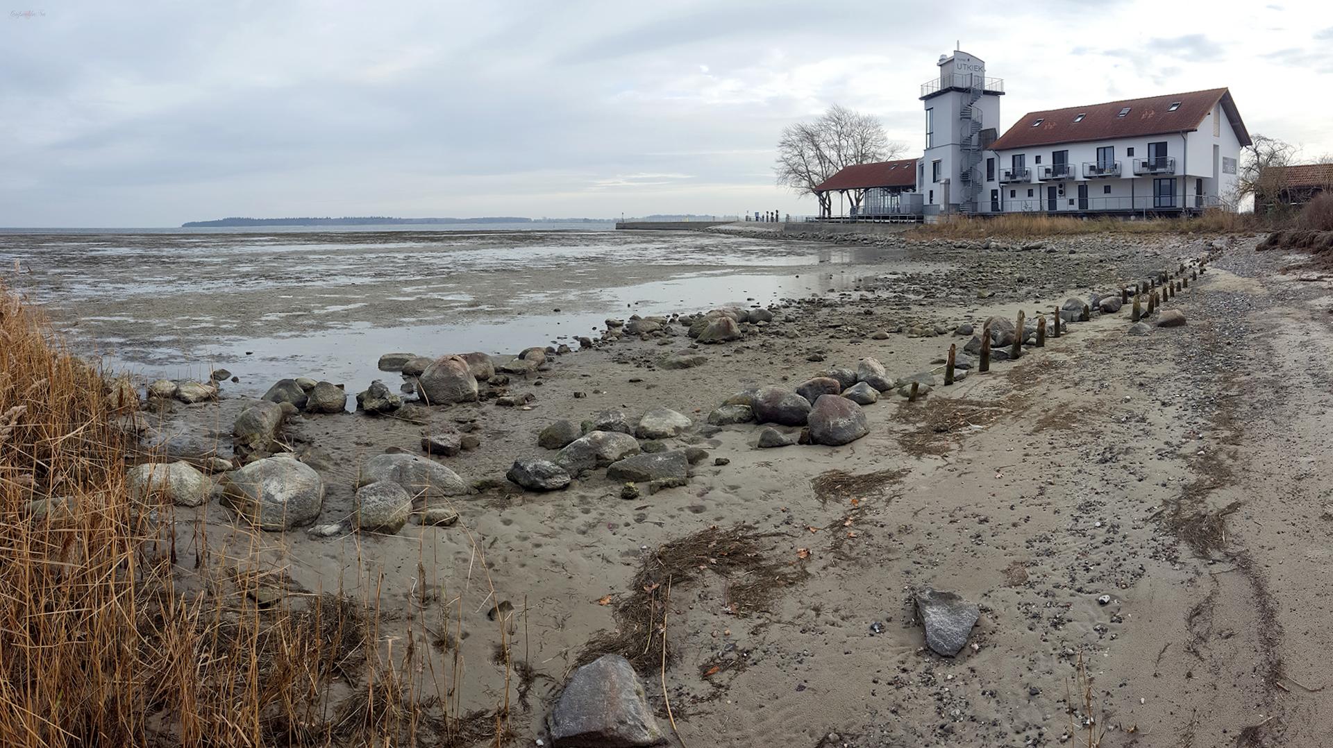 Niedrigwasser am Utkiek in Greifswald-Wieck