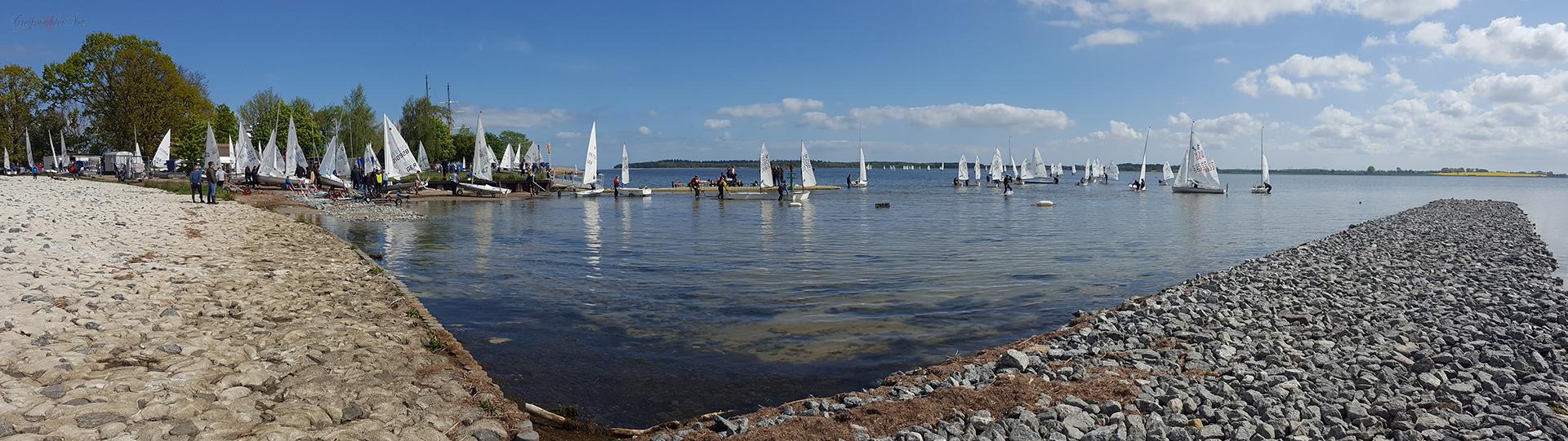 Segelboote (Optimisten-Jolle) in Greifswald-Wieck
