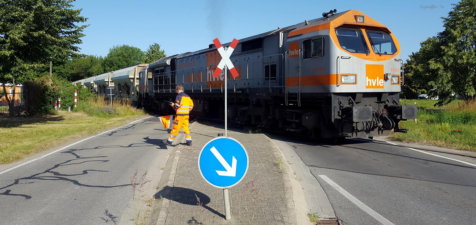 Bahnübergang Greifswald-Ladebow
