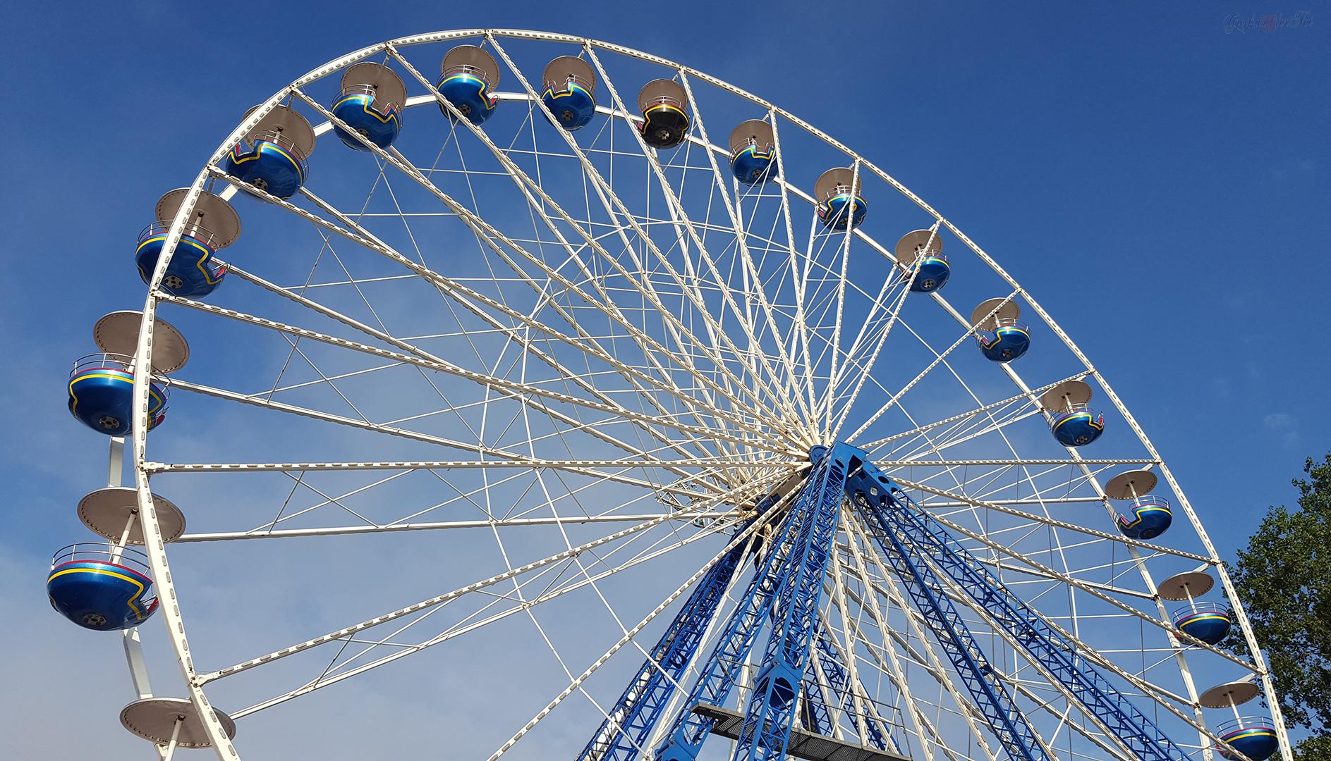 Riesenrad auf dem Fischerfest 2019 in Greifswald-Wieck