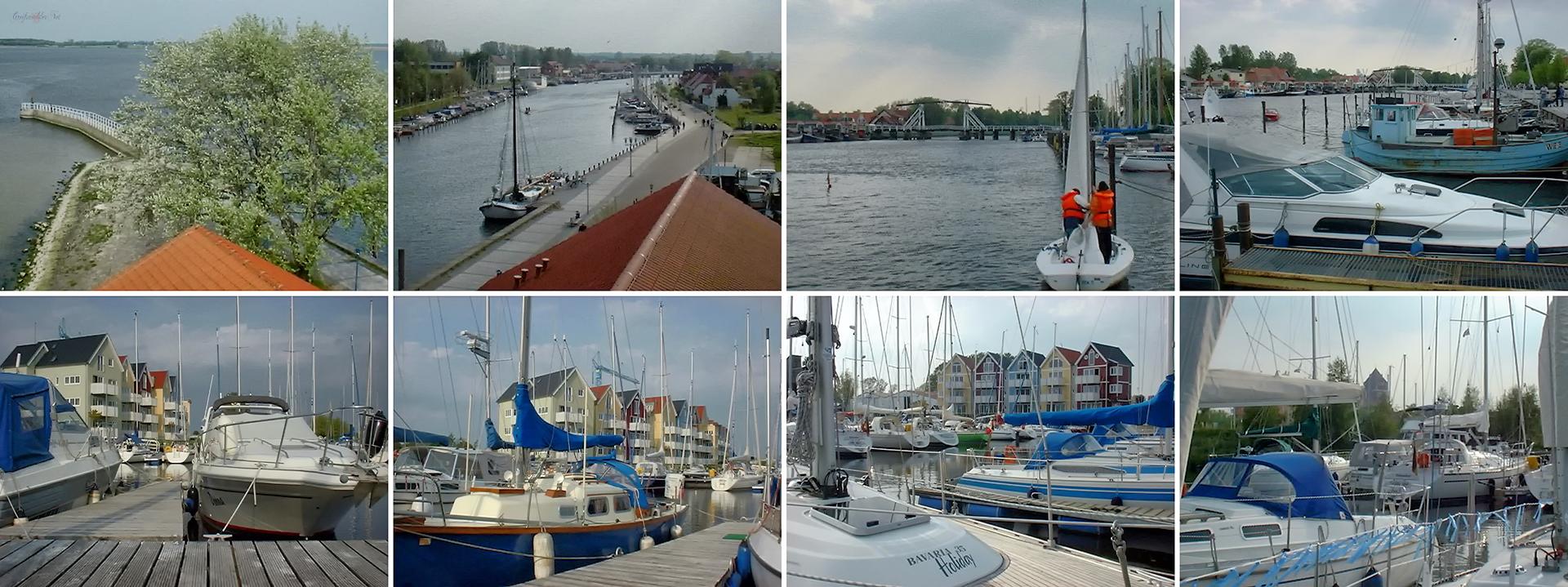 Hafen Greifswald-Wieck und Marina Holzteich Greifswald im Mai 2002