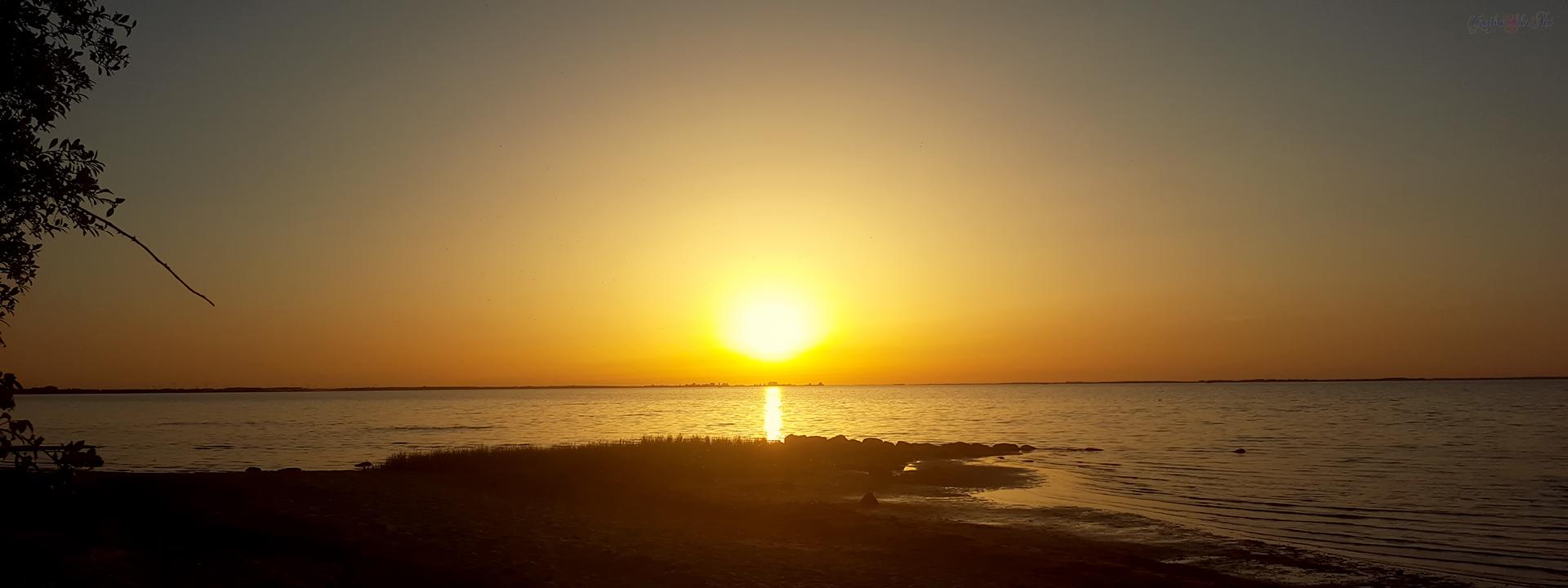 Sonnenuntergang am Greifswalder Bodden
