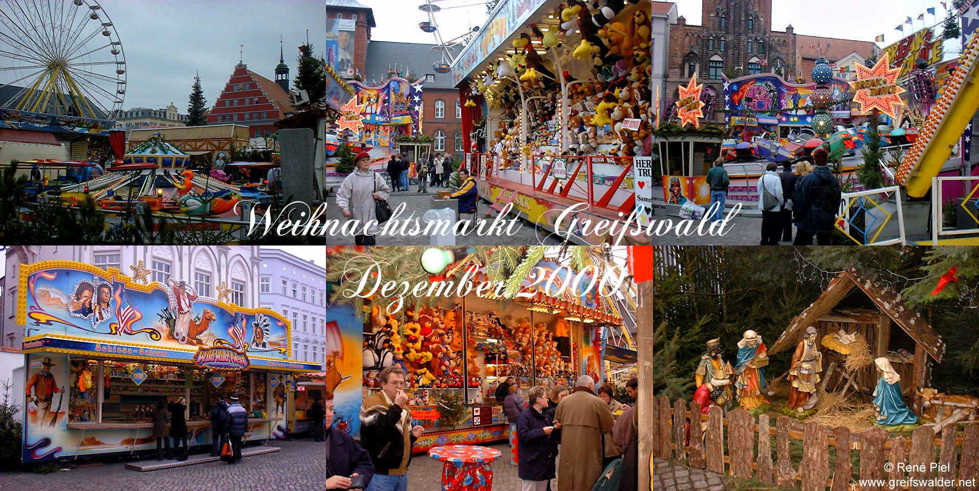 Weihnachtsmarkt Greifswald - Dezember 2000