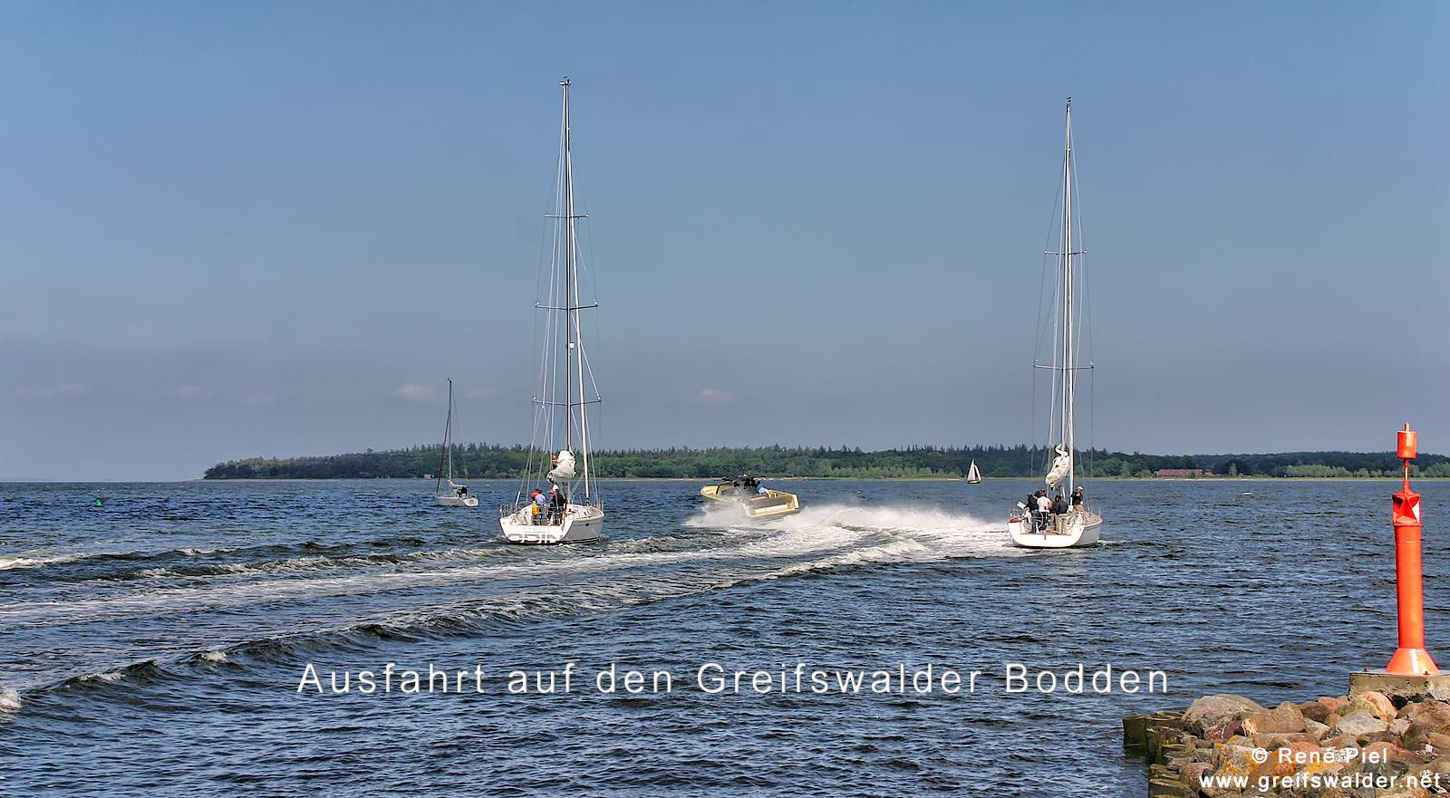 Ausfahrt auf den Greifswalder Bodden