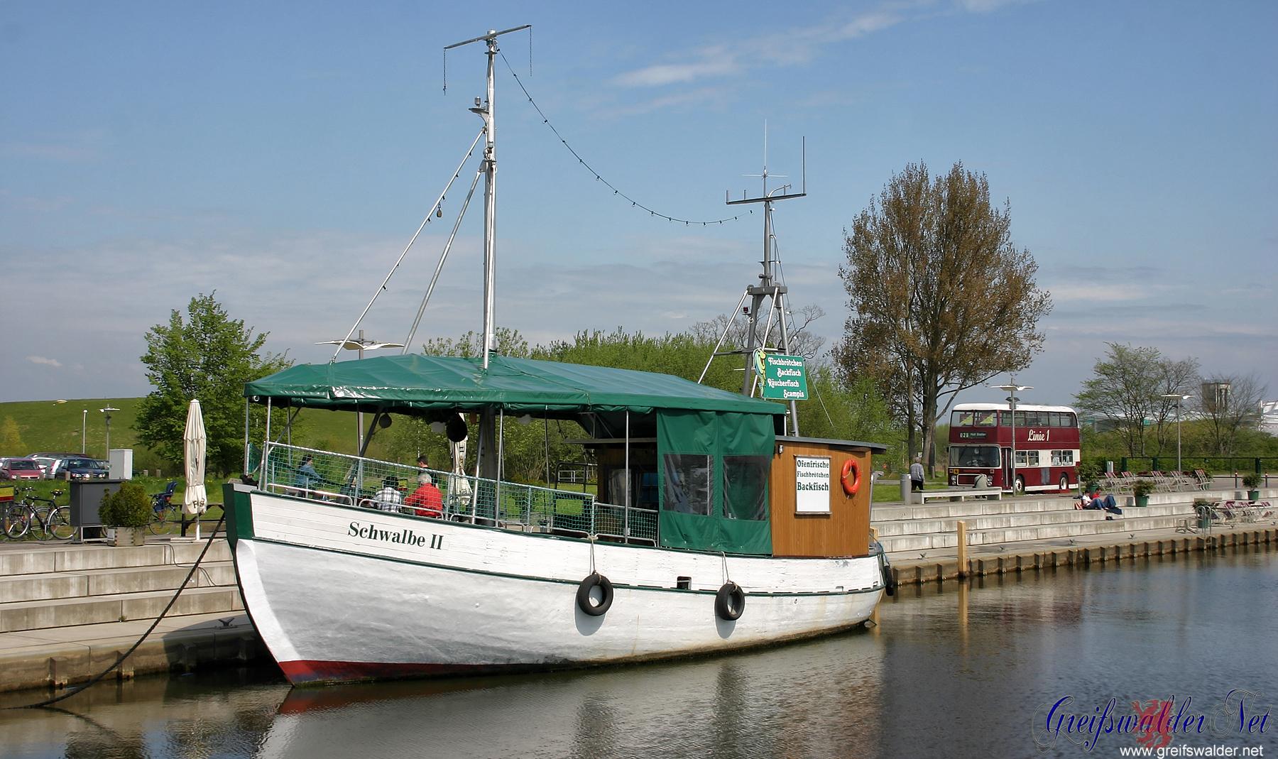 Am Museumshafen in Greifswald im Monat Mai 2008