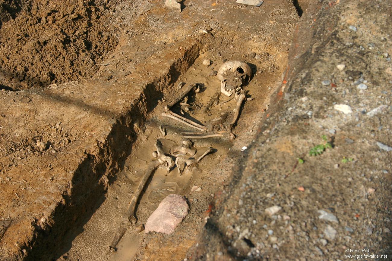 Ausgrabung an der Klosterruine in Greifswald-Eldena (2009)