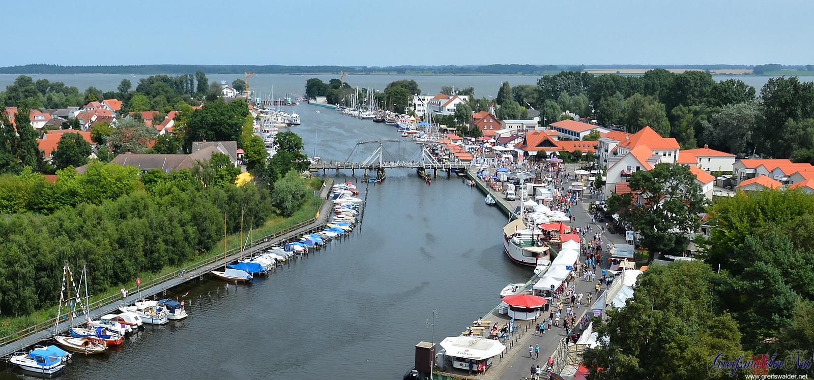 Blick auf Greifswald-Wieck
