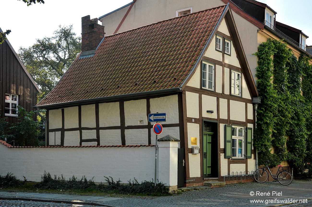 Schiefes Häuschen in Greifswald