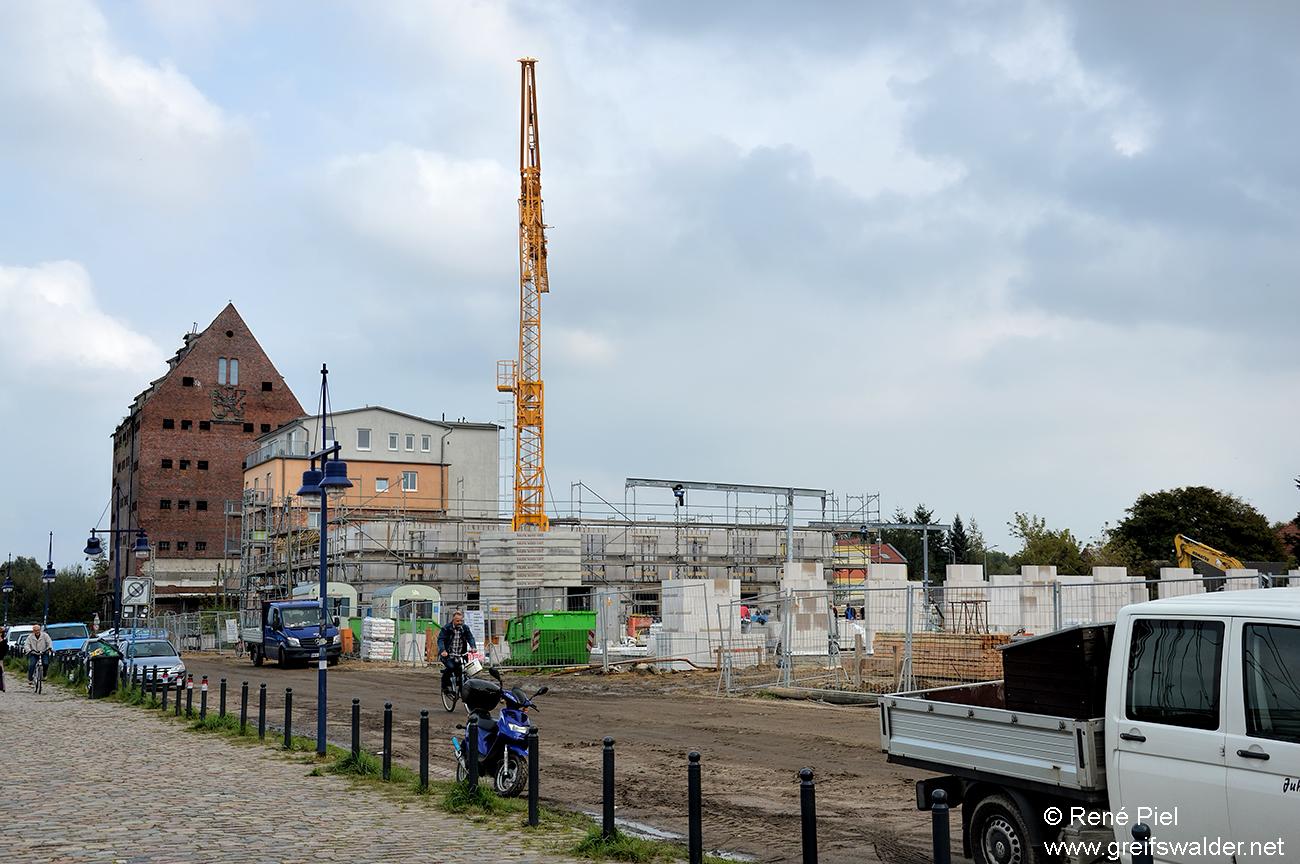 Bauarbeiten Hafenstraße in Greifswald