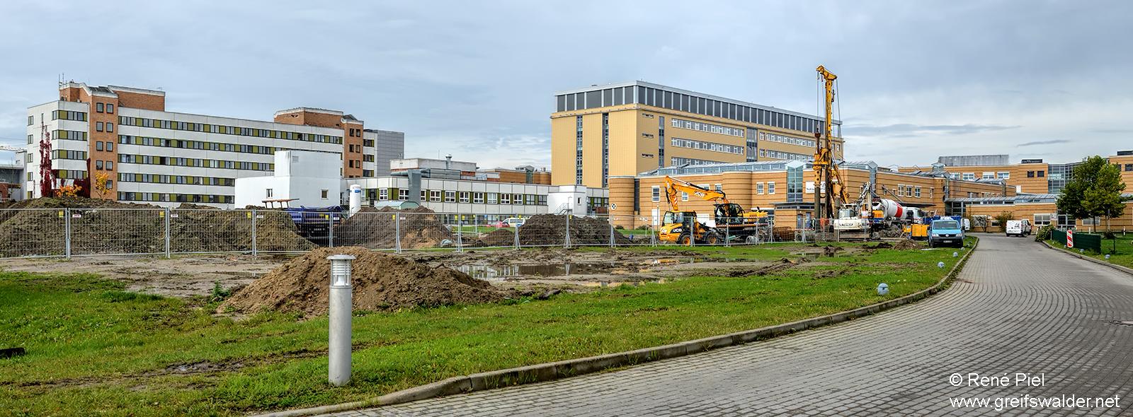 Baustelle am Klinikum in Greifswald