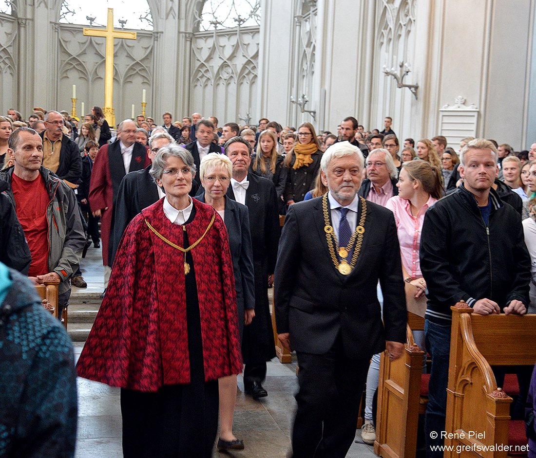Feierliche Immatrikulation im Dom St. Nikolai in Greifswald