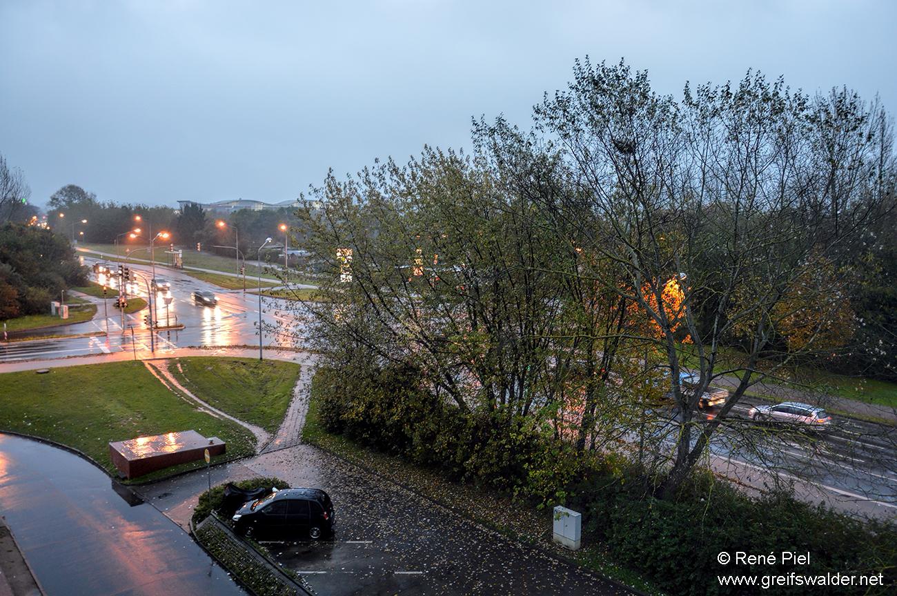 Greifswald im Regen