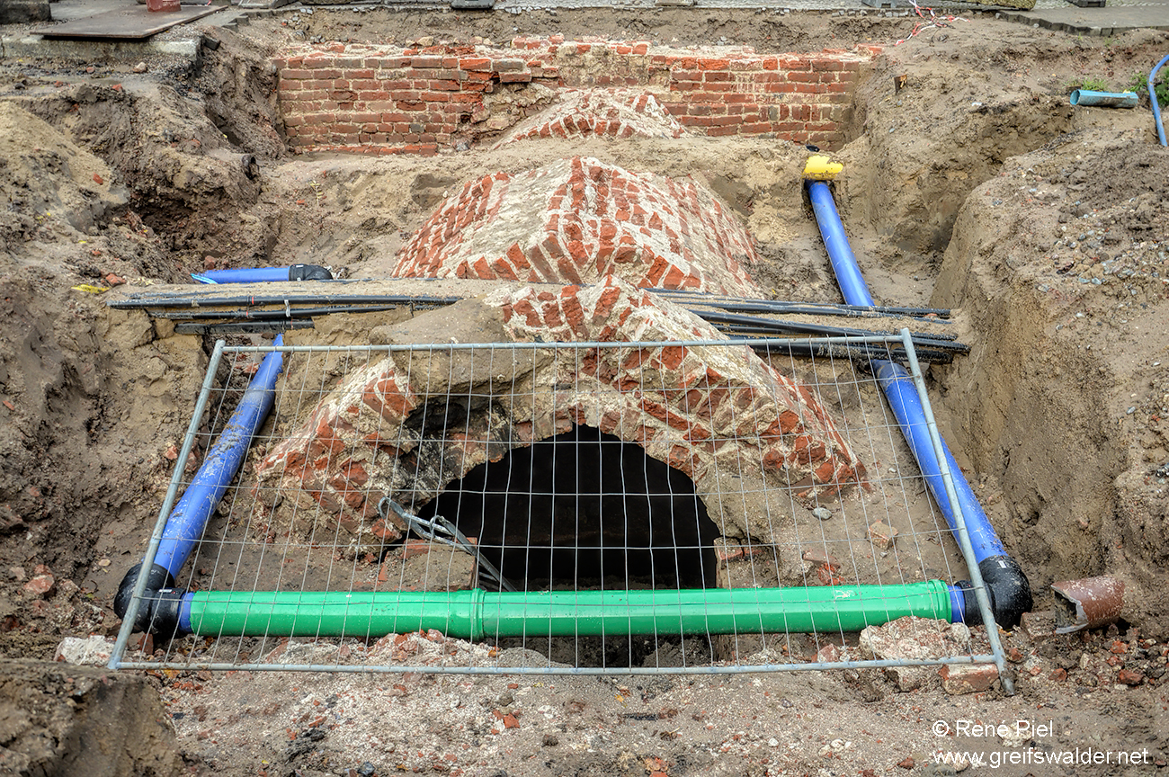 Ausgrabung Lange Straße in Greifswald