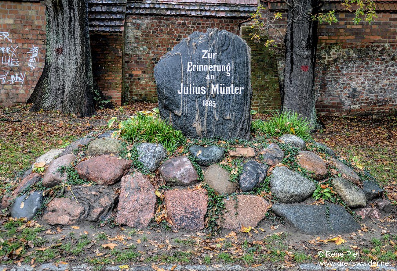 Julius Münter Denkmal in Greifswald