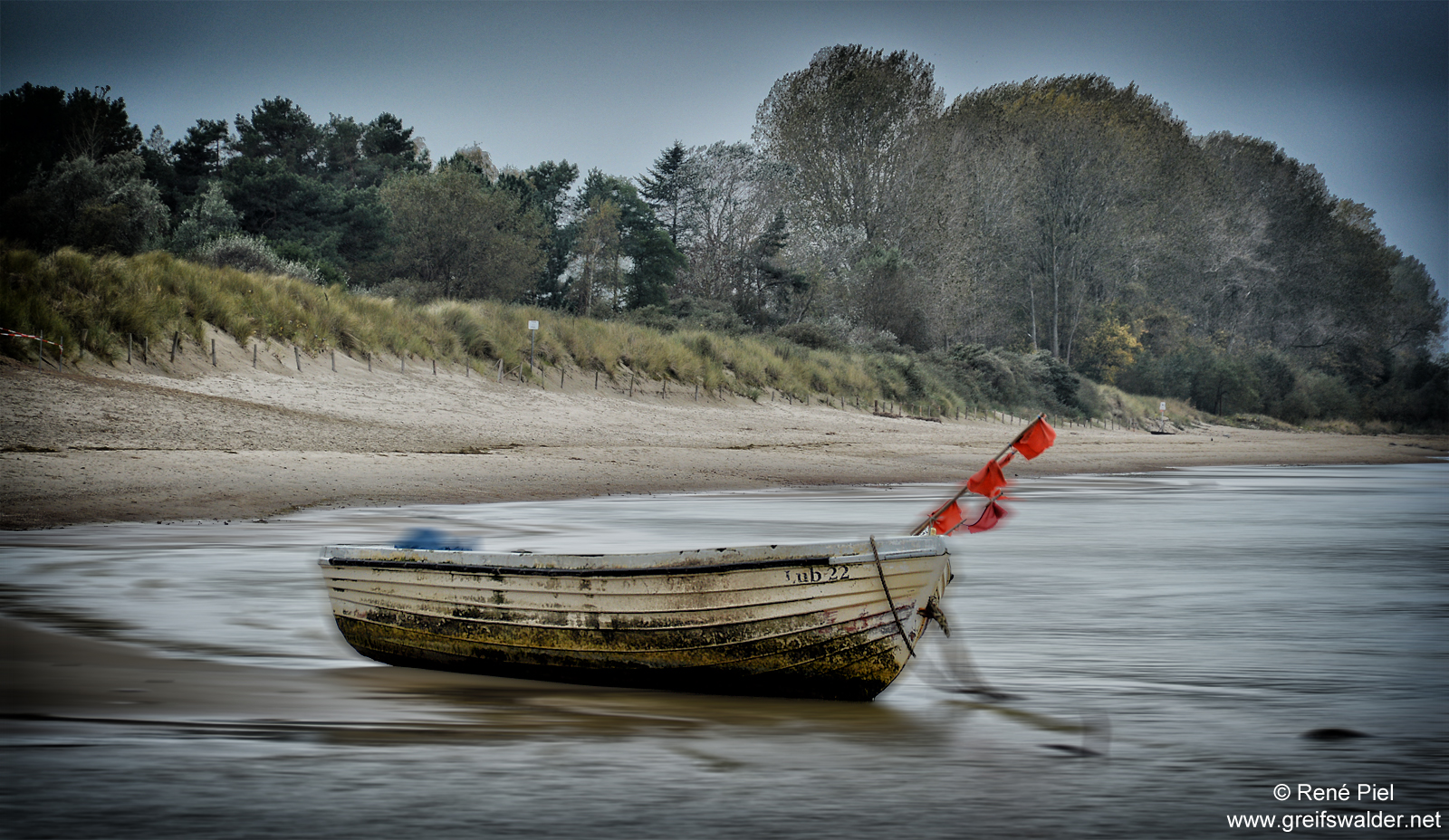 Boot am Strand