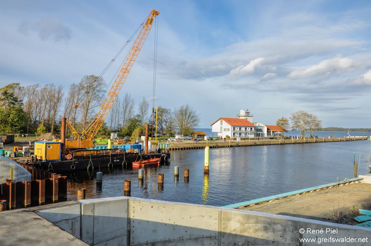 Baustelle Sperrwerk in Greifswald-Wieck