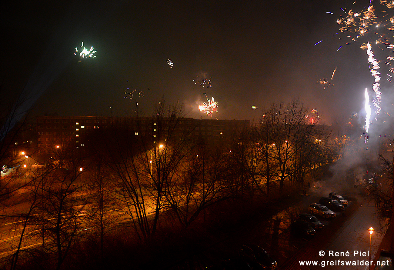 Freihand-Schnappschuss Silvester-Feuerwerk