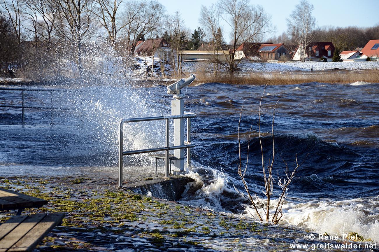 Sturm am Utkiek in Greifswald-Wieck