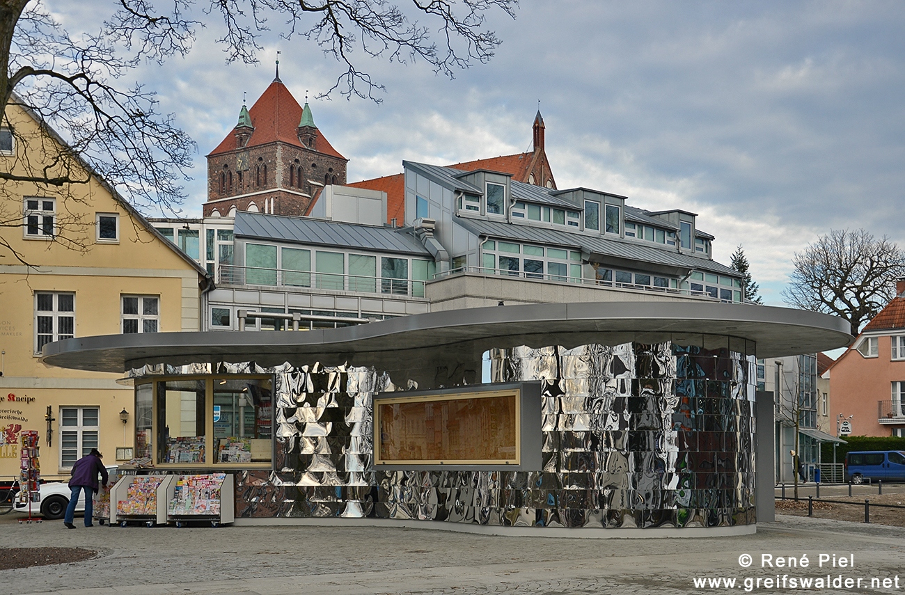 Neuer Kiosk am Mühlentor in Greifswald