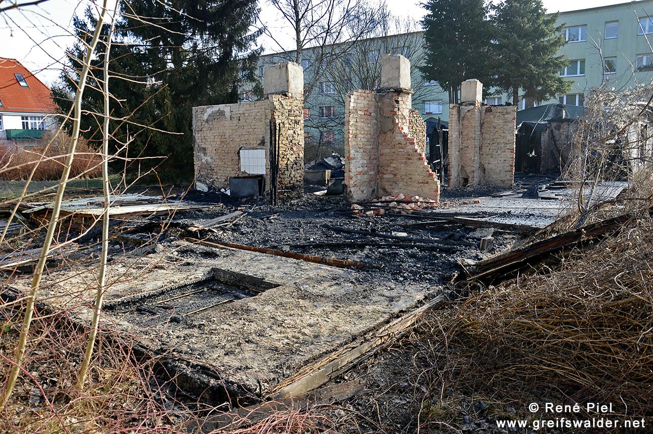 ehemaliger Kindergarten in Greifswald-Eldena abgebrannt