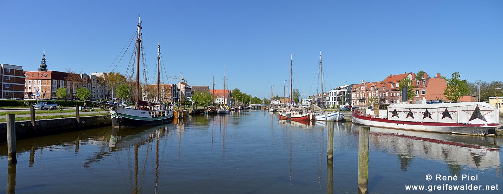 Panorama: Museumshafen Greifswald