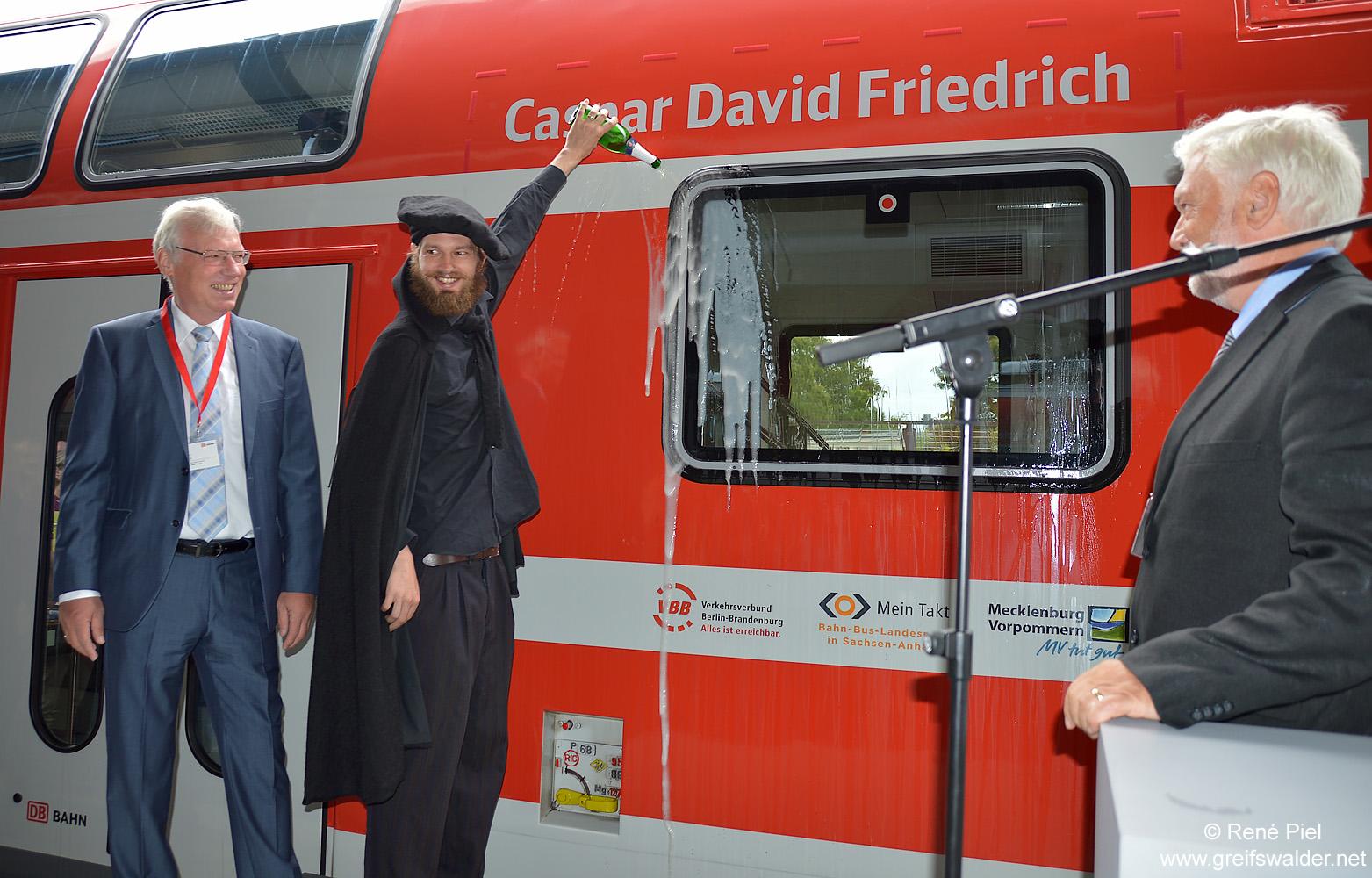 "Zugtaufe ""Caspar David Friedrich"" in Greifswald"