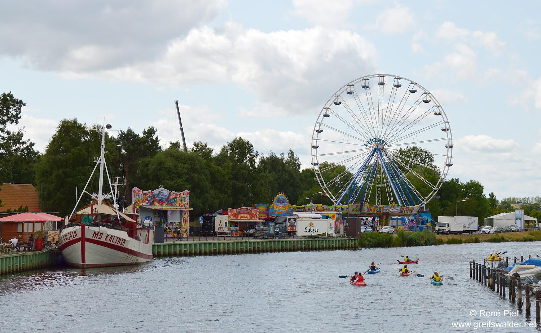 Mittwoch vor dem Fischerfest 2015 in Greifswald-Wieck