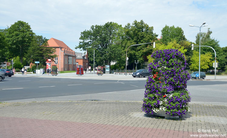 An der Europakreuzung in Greifswald