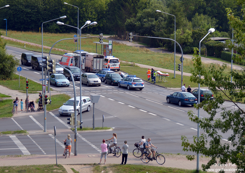 Unfall, Kreuzung, Anklamer Straße, Koitenhäger Landstraße