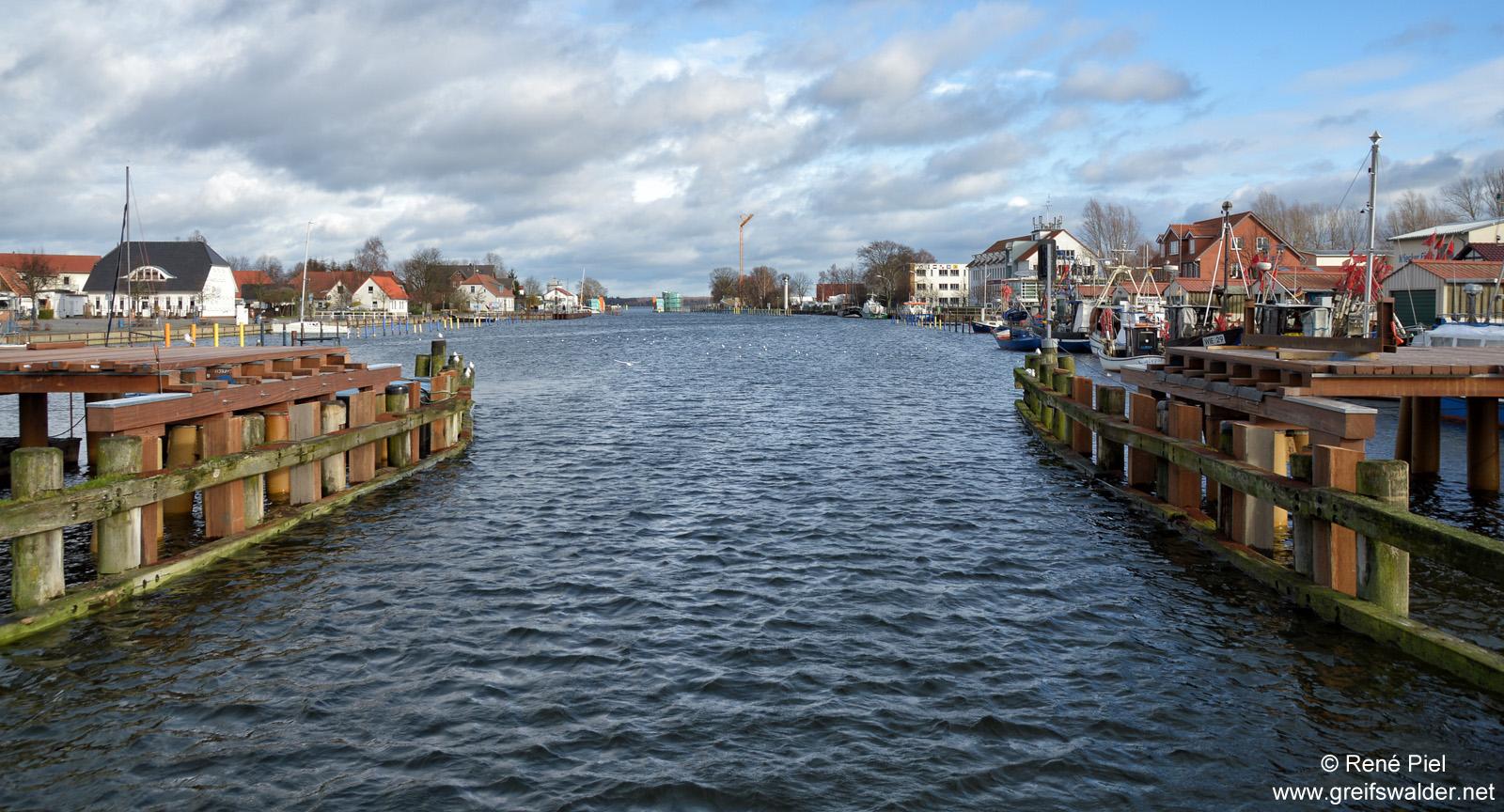Baustelle Brücke in Greifswald-Wieck