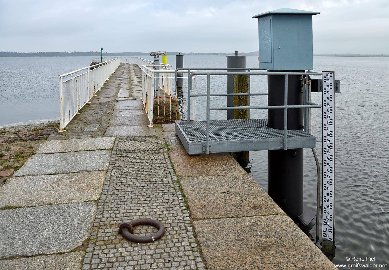 Wasserstand Pegel in Greifswald-Wieck