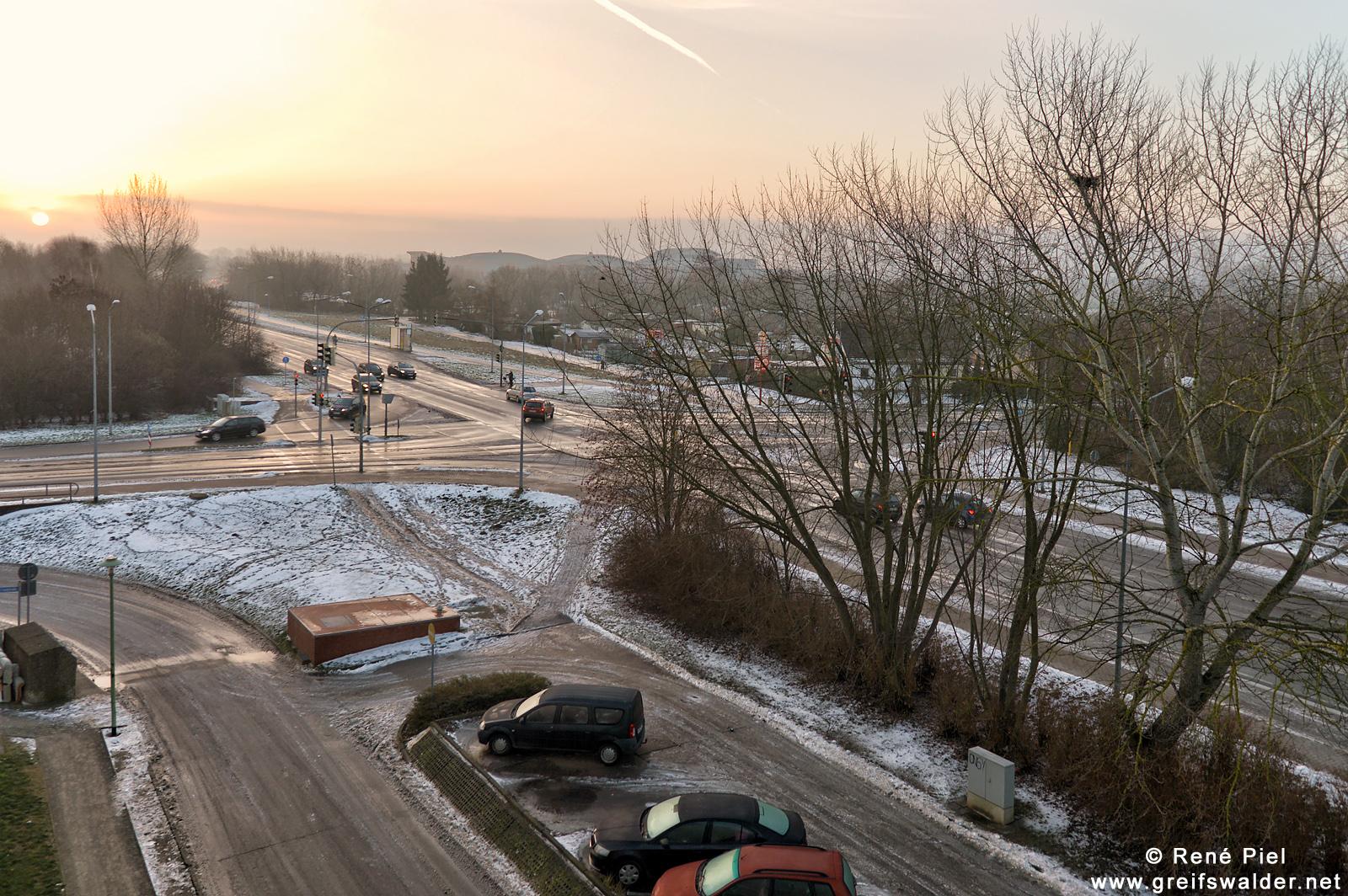Sonnenaufgang in Greifswald