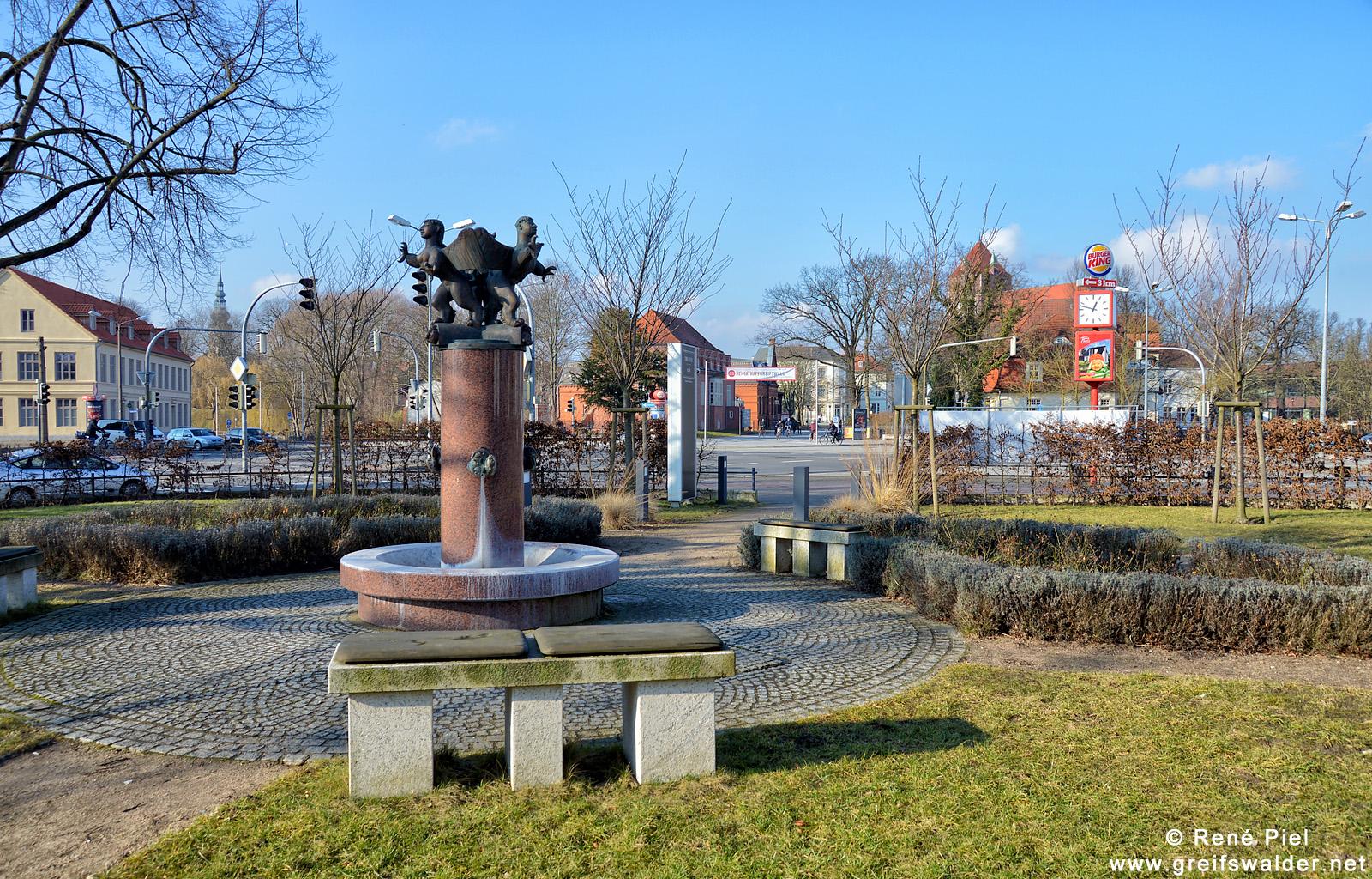 Am Theatercafé in Greifswald