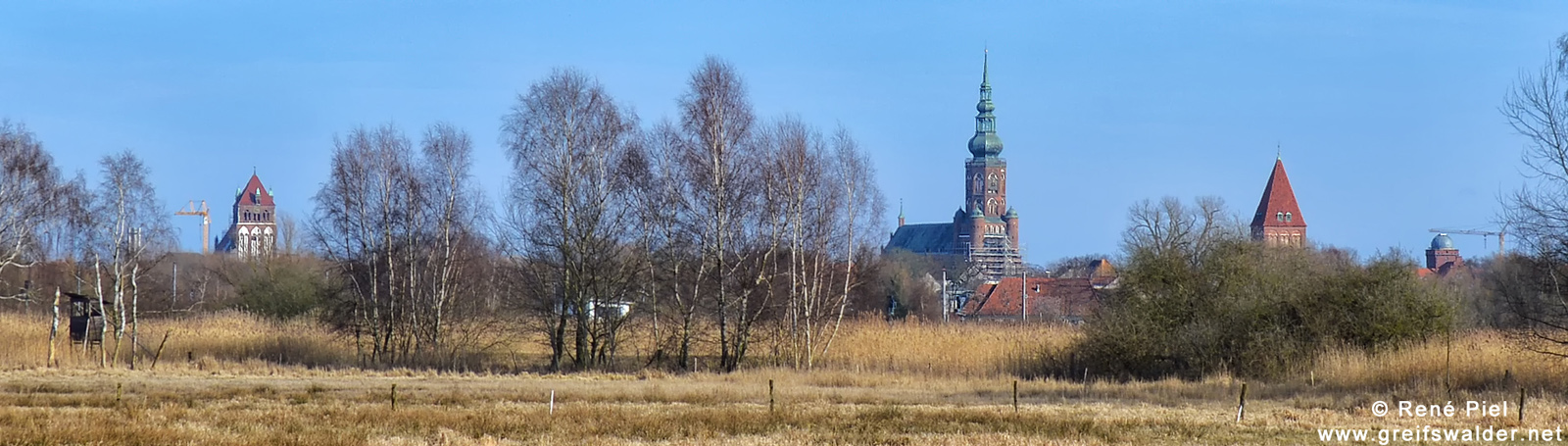 Blick auf Greifswald