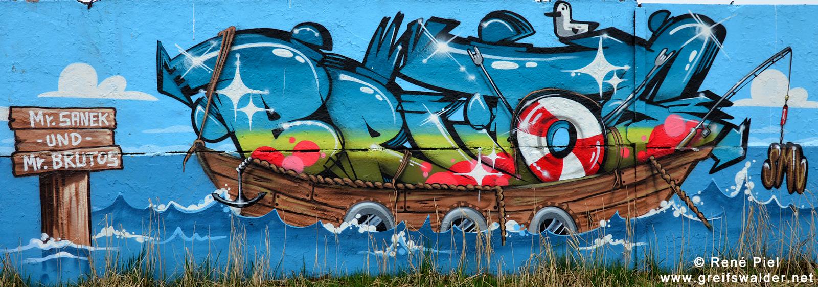 Graffiti Hafenstraße Greifswald