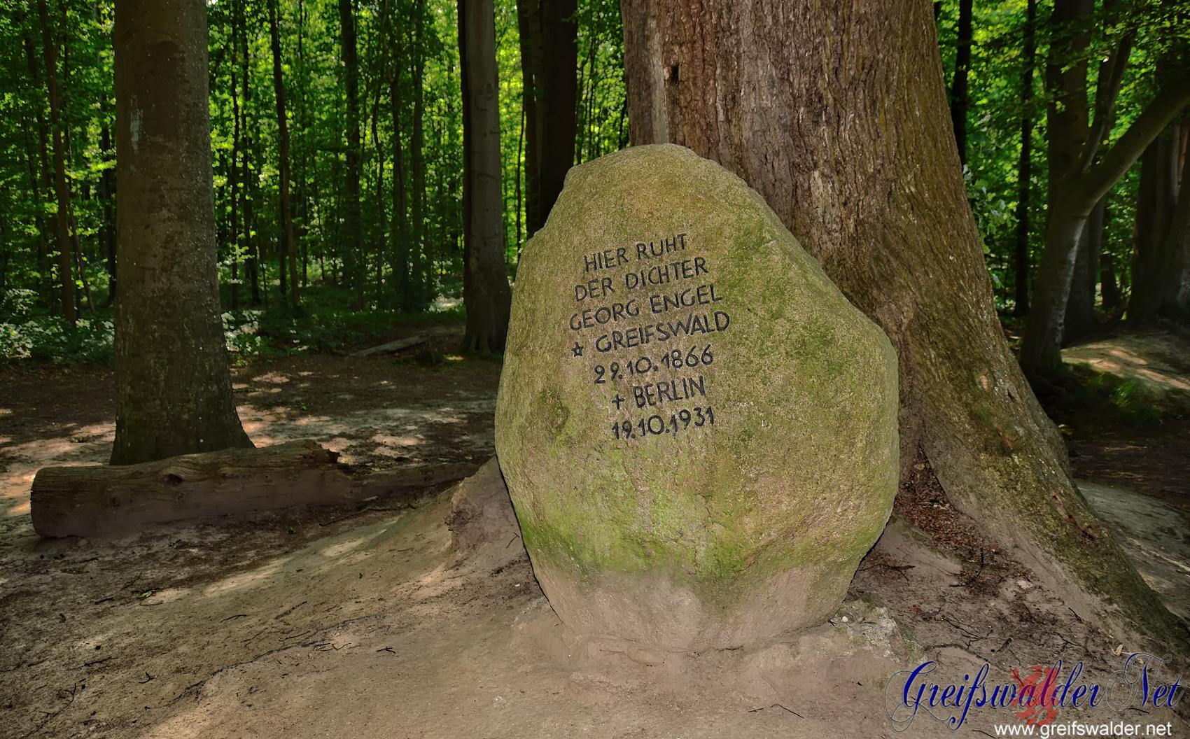 Grabstein von Georg Engel im Elisenhain
