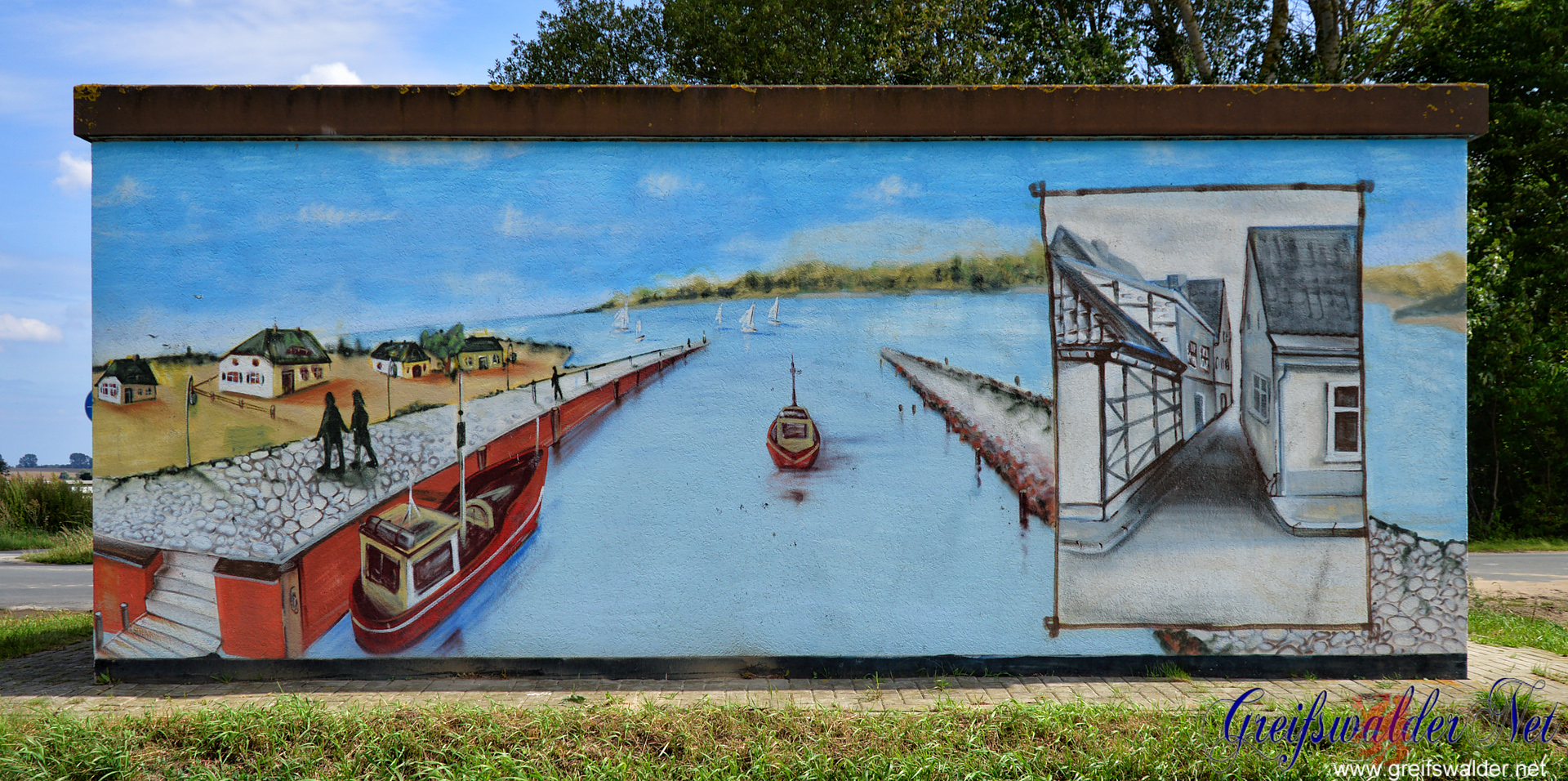 Graffiti an einer Trafostation