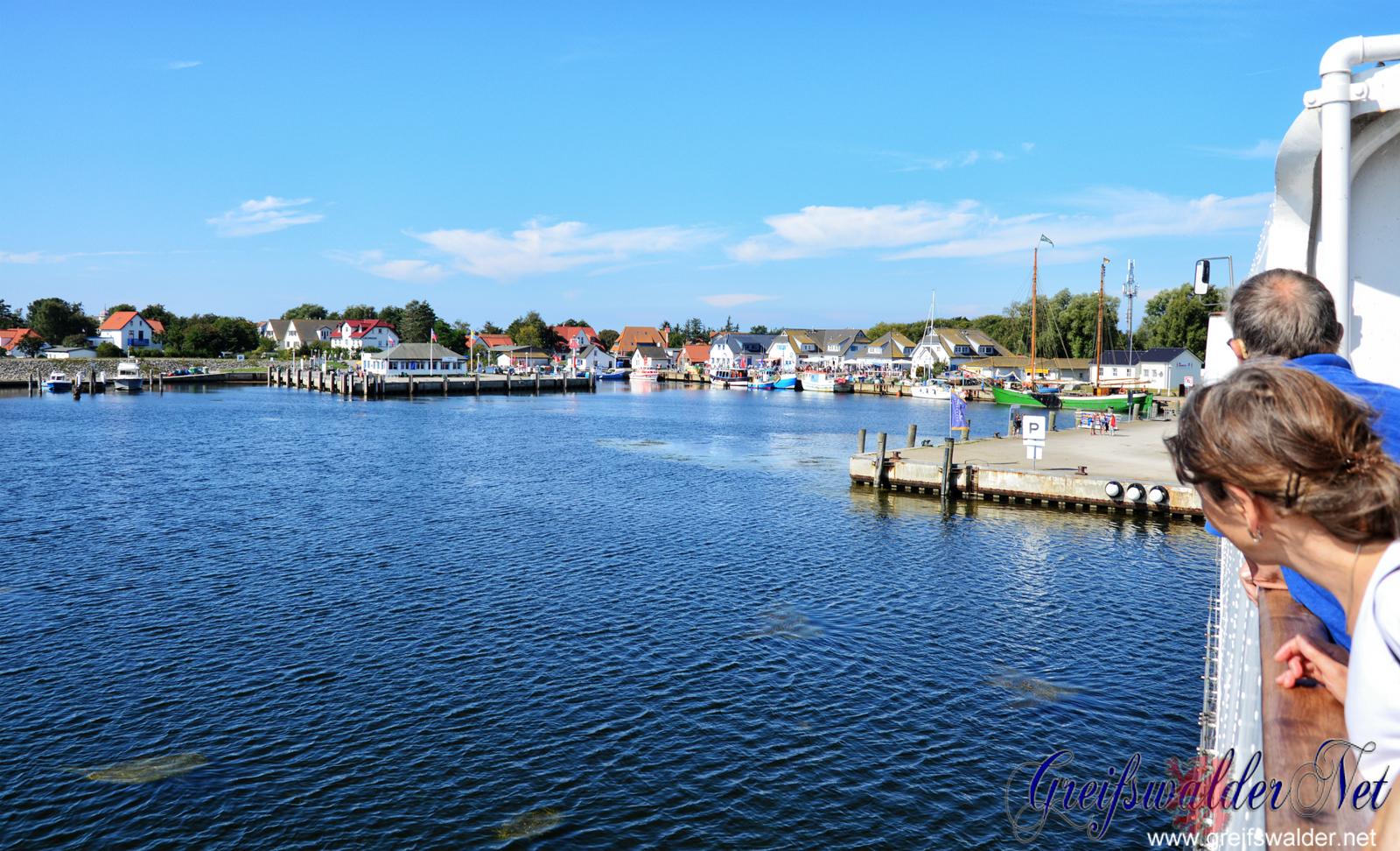 Überfahrt von Schaprode (Rügen) nach Vitte (Hiddensee)