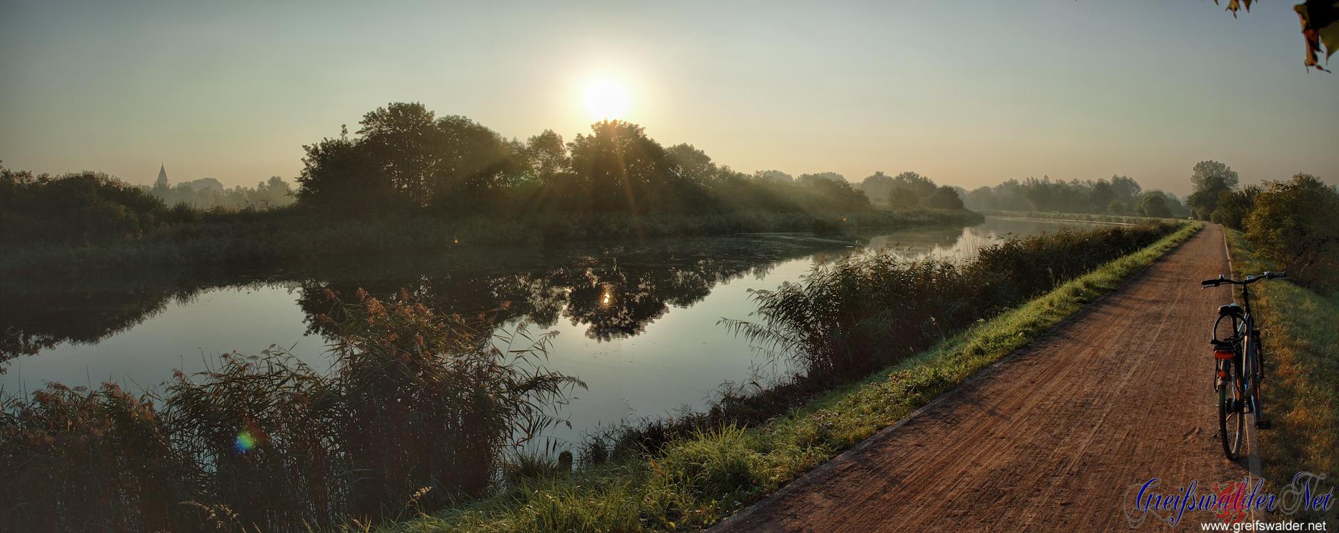 Mittwochmorgen am Ryck in Greifswald