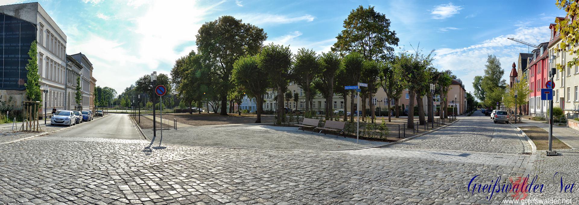Karl-Marx-Platz in Greifswald neu gestaltet