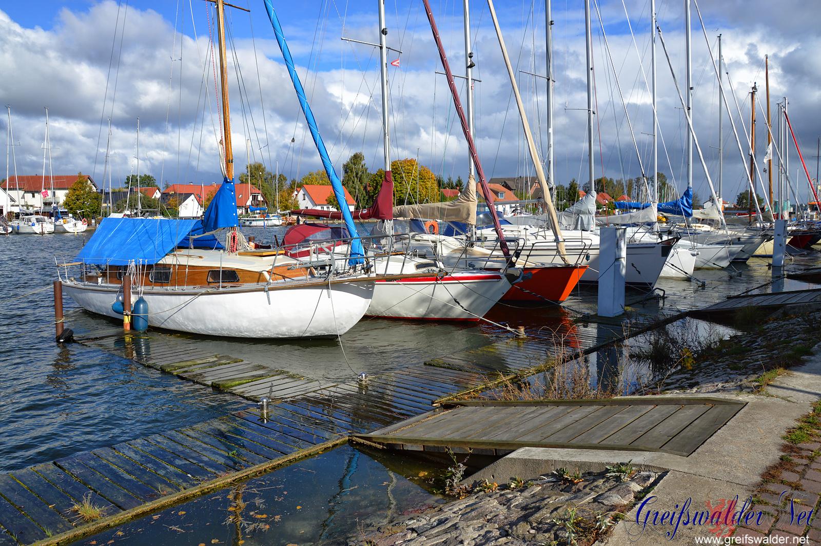 Erhöhter Wasserstand in Greifswald-Wieck