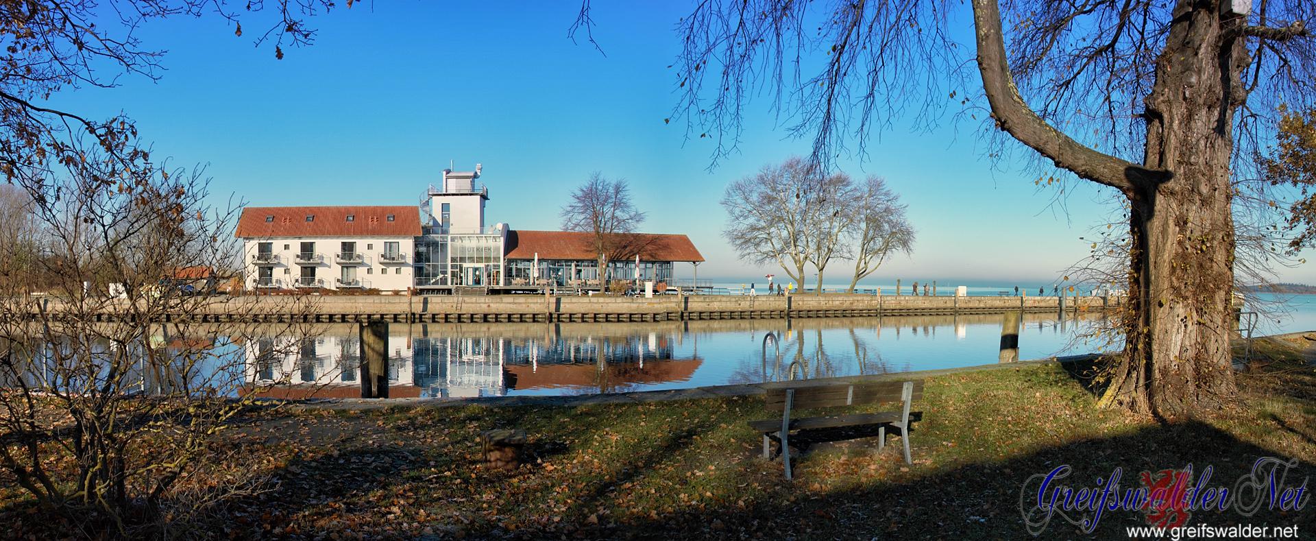 sonniger Nachmittag am Utkiek in Greifswald-Wieck