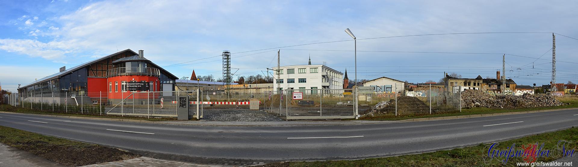Am ehemaligen Güterbahnhof Greifswald