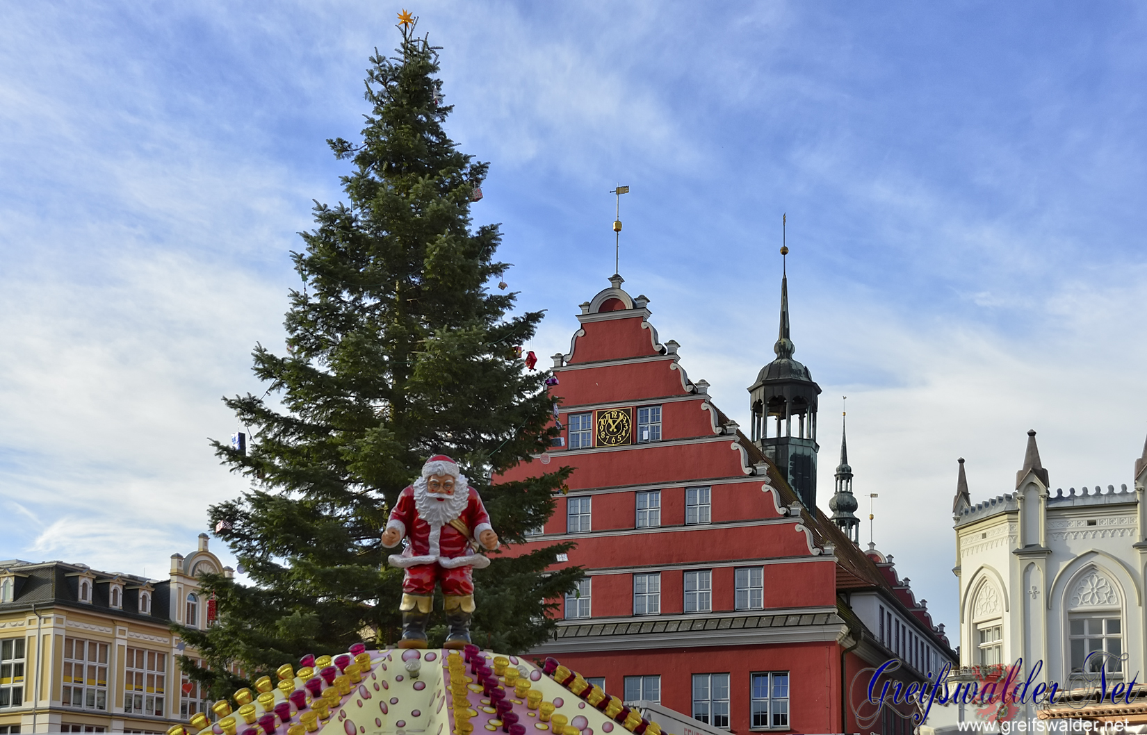 Weihnachtsbaum in Greifswald