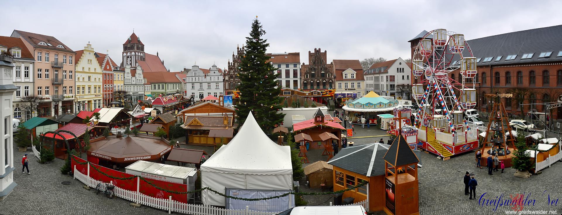 Weihnachtsmarkt 2016 in Greifswald