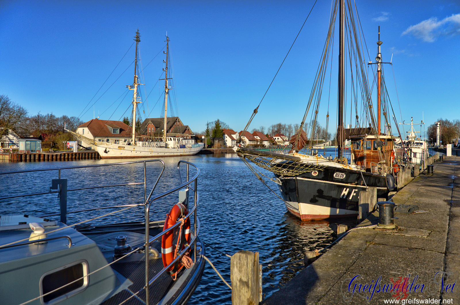 Hafen in Greifswald-Wieck