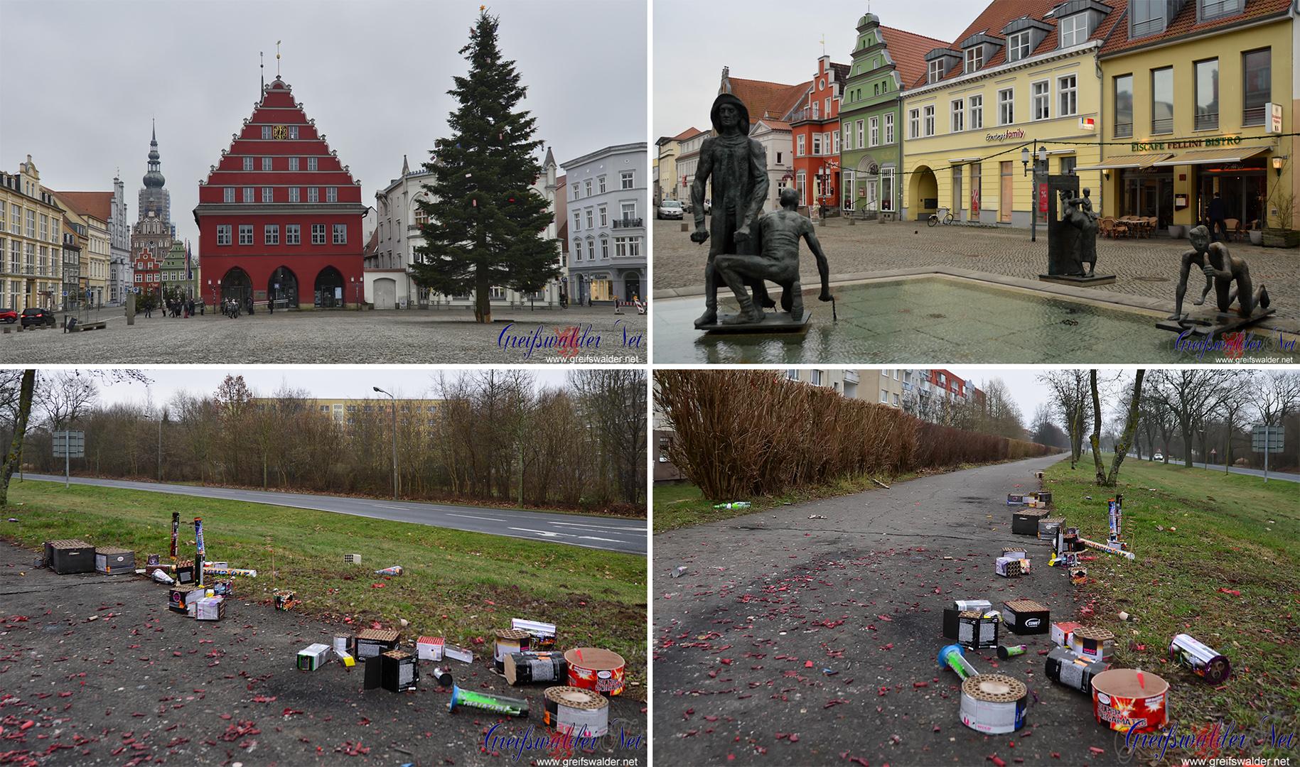 Neujahr 2017 in Greifswald